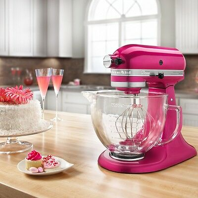KitchenAid Artisan KSM155GB Five Quart Stand Mixer - Raspberry Ice - NWOB