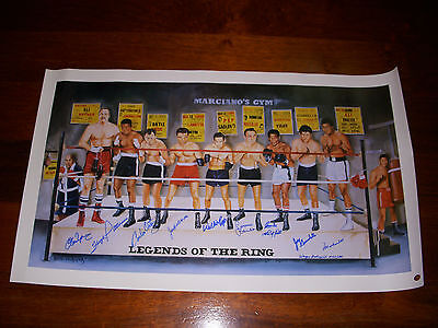 "Legends Of The Ring - Signed LTD EDITION 20""X 33"" Litho Muhammad Ali - RARE"
