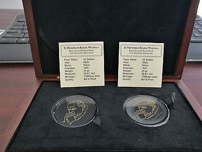 10 Dollar Liberia 2005 silver coin Karol Wojtyla Black proof & BU JOHN PAUL II