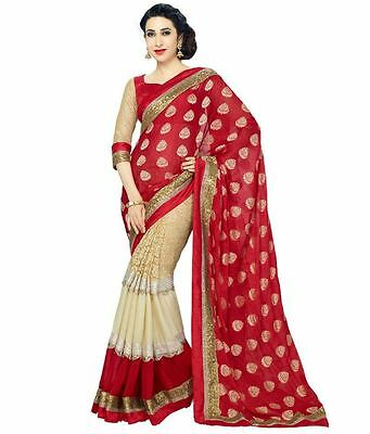 Pakistani Indian Ethnic designer saree party wear Traditional new Karishma Red