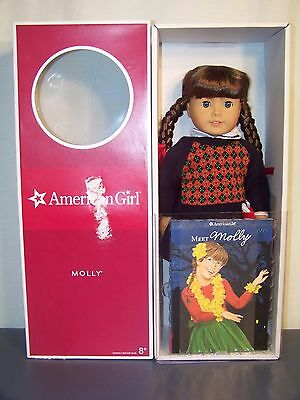 American Girl 18 inch Molly Doll New In Box! Retired!