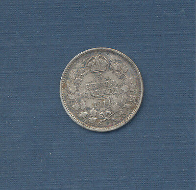 1914 Canada Small Nickel, George V, 100 year old coin, Great Addition!!!