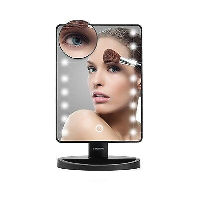 Make Up Mirror LED Lighted Showpin Touch Screen Vanity MirrorTabletop Cosmeti...