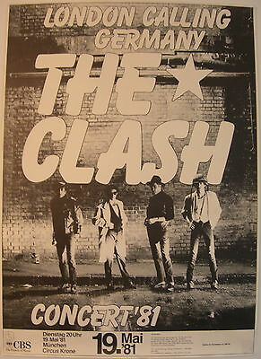 The Clash Concert Tour Poster 1981 Sandinista Munich Germany