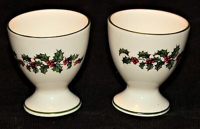 Crown Staffordshire Holly Egg Cups