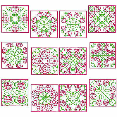 * SPRINGTIME QB7 * Machine Embroidery Patterns * 12 Designs