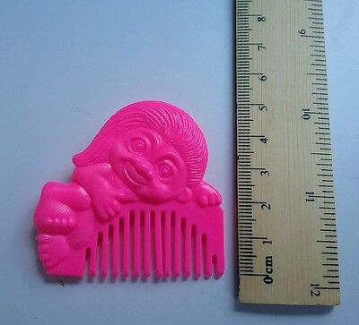 Fluro Neon pink Troll Doll toy hair comb