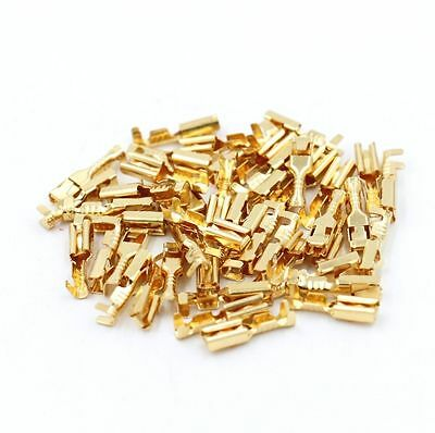 50 Pcs Female Spade Cable Wire Terminals for 2.8mm Connectors