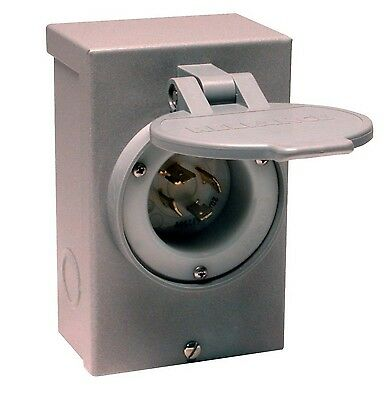 Reliance Controls PB30 L14-30 30 Amp Generator Power Cord Inlet Box For Up To...