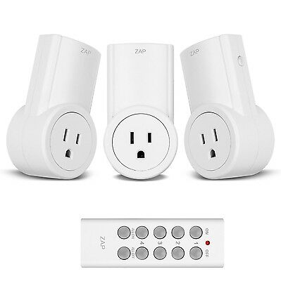 Etekcity Programmable Wireless Remote Control Power Outlet On/Off Switch Lear...