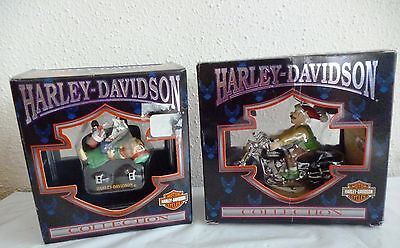 Lot of 2 Harley Davidson Christmas ornaments by Cavanagh Group
