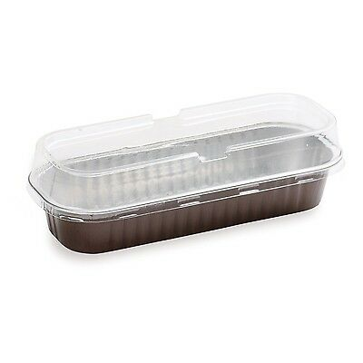 Restaurantware RWM0019CF Foil Baking Loaf Pan 6.75-Ounce with Lid 100-Count Box