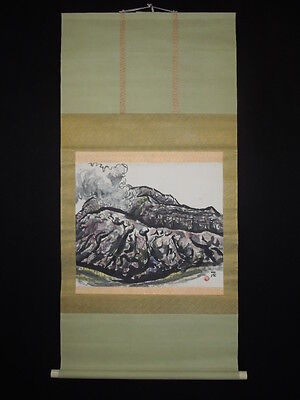 Hanging Scroll Landscape Japanese Painting Asian Art Fine ink Paper Picture 722