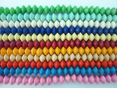 38 pce Large Dyed Wood Saucer Beads 15mm x 12mm Tribal Jewellery Craft