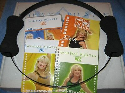Winsor Pilates Circle and DVDs Kit Sculpt Your Body Cookbook Planner