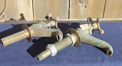 Vintage Metal Faucets Lot of Eight