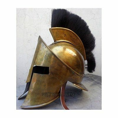 Antique Medieval Armour Greek Spartan 300 Roman Helmet Without Stand
