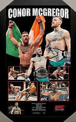 Conor Mcgregor Notorious Ufc Mma Framed Limited Edition Lithograph - 100 Only