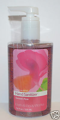 New Bath & Body Works Sweet Pea Anti Bacterial Hand Sanitizer Gel Large Pump 7.6