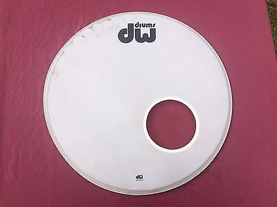 "DW Bass Drum Resonant Head 22"" white USED"