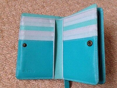 Tula By Radley Genuine Leather Turquoise Purse