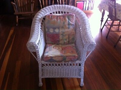 Beautiful White Antique Style Cane Chair