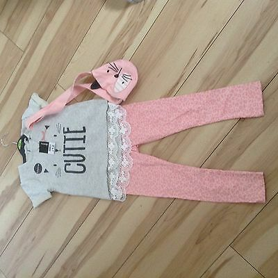 Girls Leggings And T shirt/Bag Set 4-5 Yrs