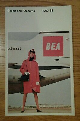 Bea Annual Report 1967/8 Brochure  British European Airways Airline Aircraft