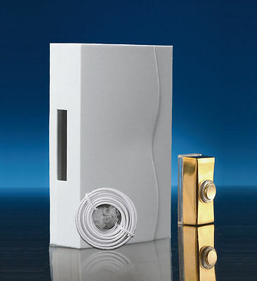 Wired Wall Mounted Battery Doorbell Kit with Brass push and cable