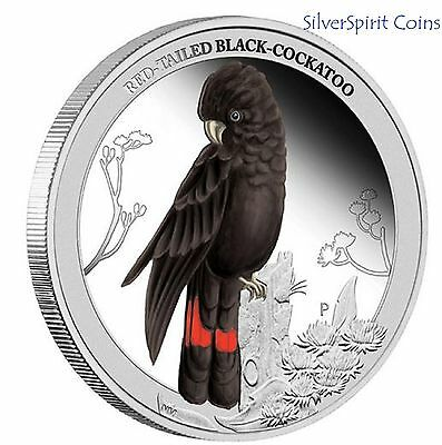 2012 BIRDS OF AUSTRALIA RED TAILED COCKATOO 1/2 oz Silver Proof Coin