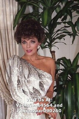 """JOAN COLLINS - 12"""" x 8"""" Colour Photograph taken in Los Angeles 1983  #2780"""