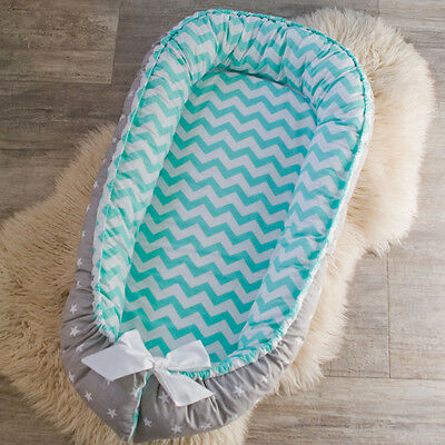 Lovely double-sided Baby Nest for newborn pod, sleep bed, cot, snuggle nest