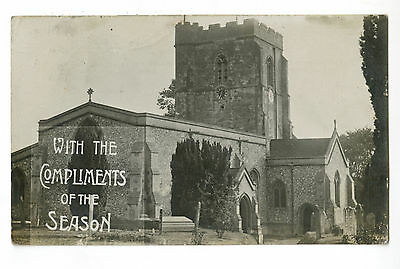 Postcard: Northchurch, Nr Berkhamsted. The Church, Real Photo posted 1913