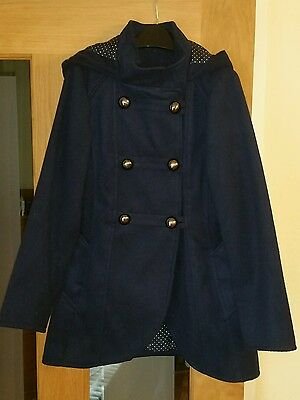 Navy Blue Girls Formal Coat - George age 7-8