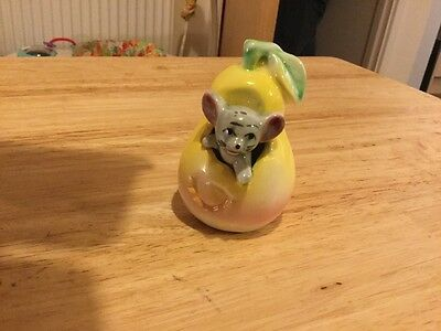 collectable mouse ornament foot in foot out pear tooth pick