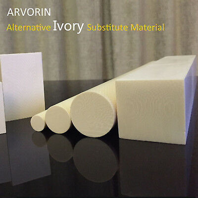 "ARVORIN - Imitation Resin Based Ivory Substitute Material 12"" Rod Block"