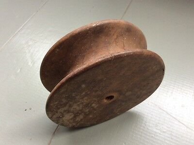 """Vintage Wooden Pulley Wheel - Approx 5"""" DIA X 1.75"""""""