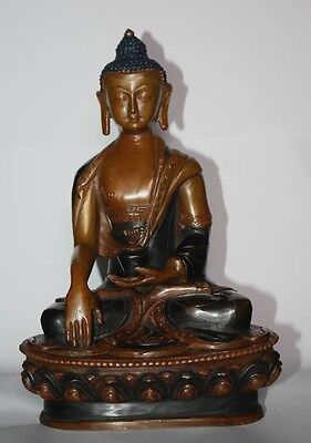 Tibetan Buddha  Statue 20 Cm Handmade Copper Sculpture Nepalese Decoration