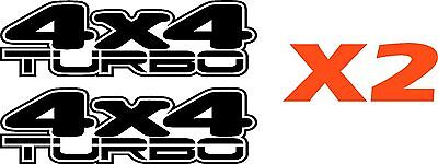 4x4 TURBO 4WD decal car Stickers x2 15 COLORS