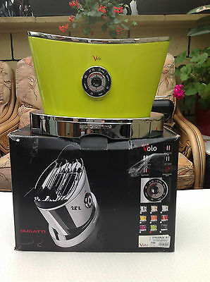 New Bugatti Volo 2-Slice Toaster With Motorized Toast Lift System -Green