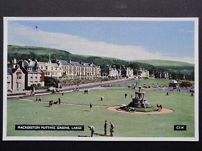 Scotland Ayrshire LARGS Mackerston Putting Green - Old Postcard by A.D.Henderson