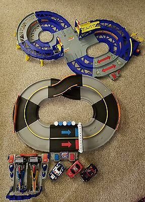 Shake N Go Electronic Race Huge Lot! Crash Ups Speedway, 2 Dragsters + 4 Cars