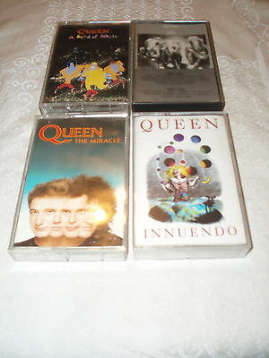 Queen 4 cassette lot   The Miracle * Innuendo * Kind of Magic * The Game