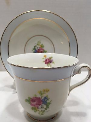 Vintage Rosina Bone China Teacup and Saucer