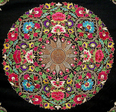 Old Central Asian Silk And Metallic Embroidery Suzani
