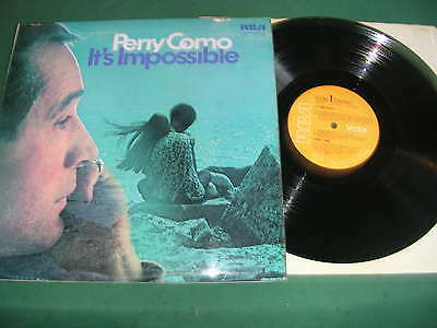 Perry Como  Lp Lot Of 2 - It's Impossible/sings Just For You