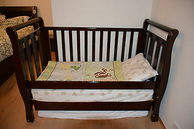Love N Care Baby cot /Junior bed (3 in 1 Sleigh Cot )