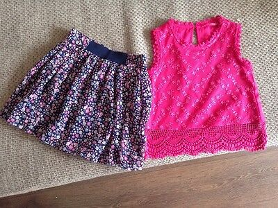 Girls Beautiful Skirt And Top Age 4-5