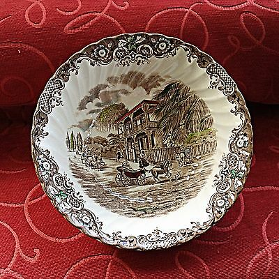 """HERITAGE HALL """"BROWN"""" FRENCH PROVINCIAL SERVING BOWL made in England Style 4411"""