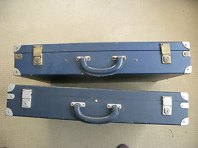 Two Vintage  Strong Flight Cases with Lid Compartment